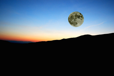 Super Moon over Great Sand Dunes, overlay