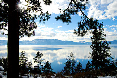 Nature Framed Lake Tahoe
