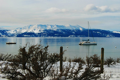Boats at Rest on Lake Tahoe