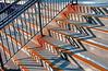 Zig Zag Shadows On Train Station Steps