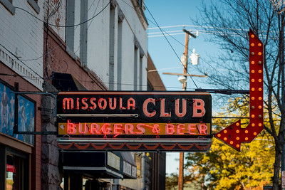 Missoula Club Sign, Missoula, Montana
