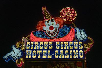 Circus Circus Neon SIgn, Las Vegas, Nevada