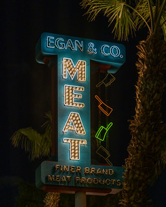 Eagan & Co. Meat Neon Sign, Las Vegas, Nevada