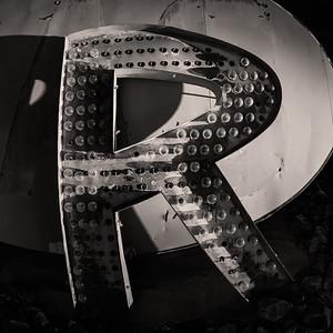 R, Neon Museum, Las Vegas, Nevada