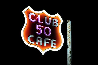 Club 50 Cafe at Night, Ely, Nevada