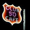 Club 50 Cafe at Night, Ely, Nevada