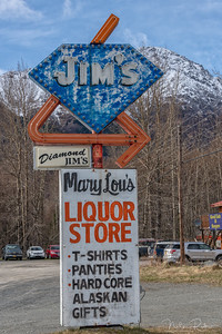 Diamond Jim's Sign, Indian, Alaska