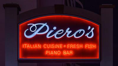 Piero's Italian Cuisine Neon Sign, Las Vegas, Nevada