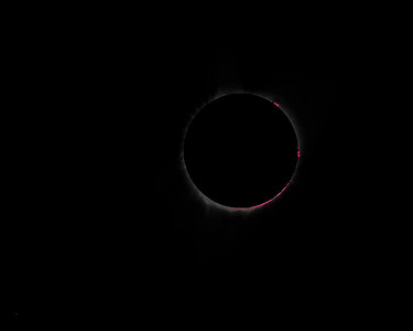 Total Solar Eclipse - Red Chromosphere - August 21, 2017