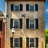 Frontal View of a Historic Home with Windows, Charleston, South Carolina