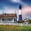 Tybee Island Lighthouse with the Keeper's Cottage, Savannah Beach, Georgia