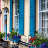 Close Up View of Colorful House Exteriors in Rainbow Row, Charleston, South Carolina, USA