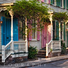 Colorful Historic Houses, Savannah, Georgia
