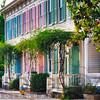 Colorful Historic Row Houses, Savannah, Georgia