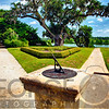 Sundial in Middleton Place Planation Garden, South Carolina