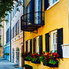 Colorful Historic Houses, Rainbow Row, East Bay Street, Charleston, South Carolina
