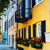 Colorful Historic Houses, Rainbow Row, East Bay Street, Charleston, South Carolina