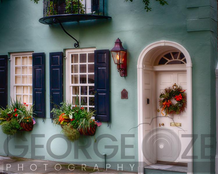 Entrance of a  Historic House in Charleston, South Carolina
