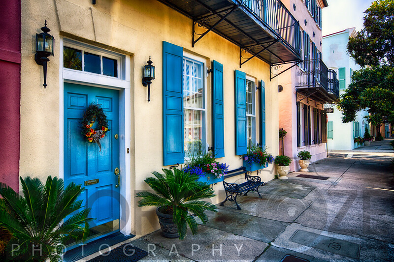 Traditional Houses of Ranbow Row, Charleston