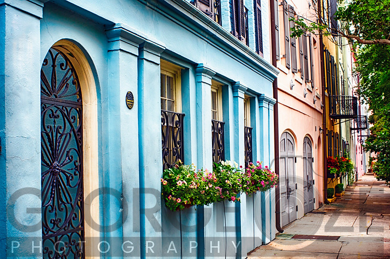 Rainbow Row of Charleston, South Carolina
