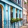Rainbow Row of Charleston, South Carolina