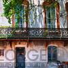 Old House with a Wrought Iron Balcony, Savannah, Georgia