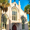 French Huguneot Church Entrance Veiew, Charleston, South Carolina
