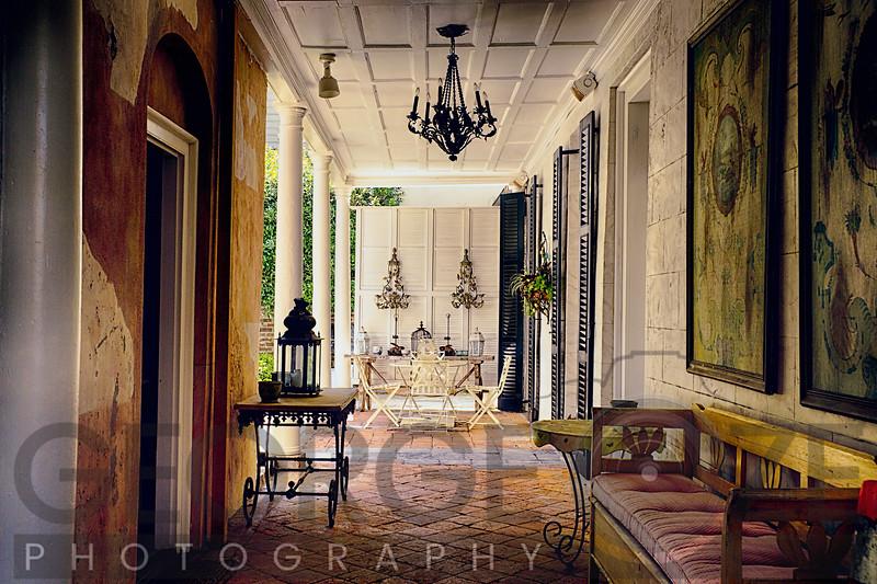 Southern Style Patio, Charleston, South Carolina