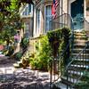 Savannah Street with Traditional House Entranmces, Georgia