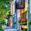 Rainbow Row View in Charleston