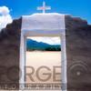 View Through an Adobe Gate, Taos Pueblo, New Mexico