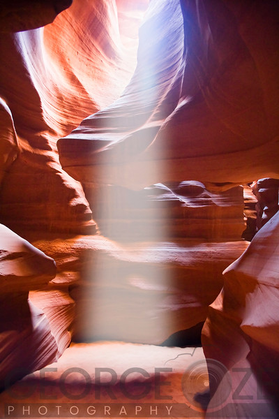 Sun Beam in Slot Canyon, Upper Antelop Canyon, Arizona