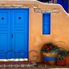 Adobe Walls with Blue Doors, Ranchos De Taos, New Mexico