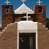 Frontal View of the Adobe Church at Taos Pueblo, New Mexico