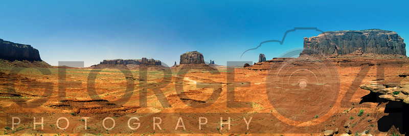 Panoramic View of The Monument Valley As Viewed From The John Ford's Point, Arizona