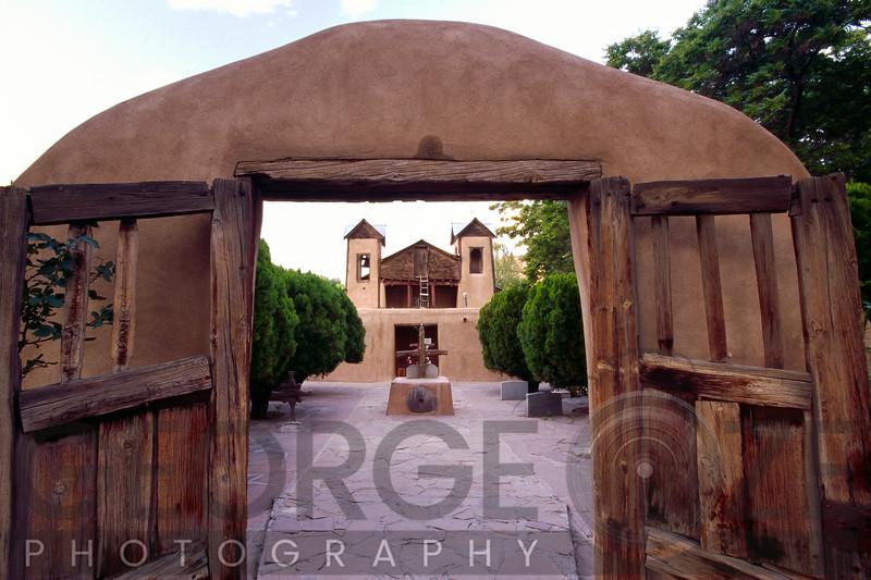 Gates of an Adobe Church, Santuario De Chimayo, New Mexico