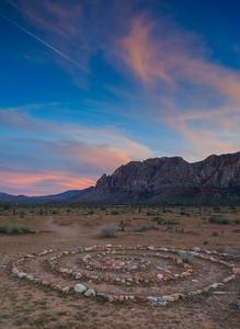 Red Rock Stone Circle Sunset