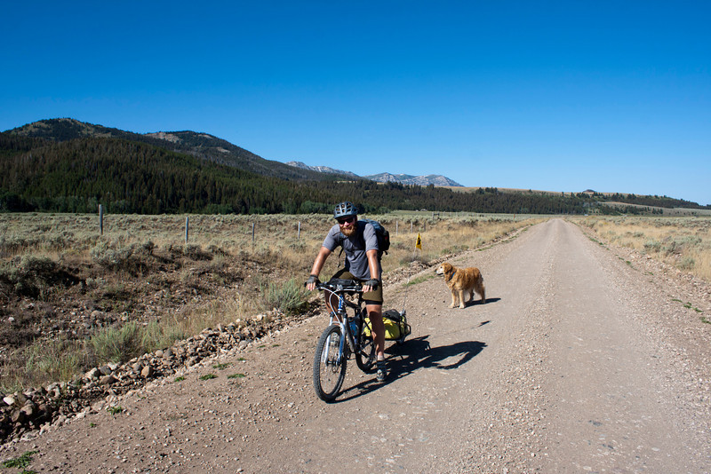 Bjorn Anderson from Bozeman, Montana is on South Valley Road, traveling the Tour Divide route at a leisurely pace. He says he has 70 days to do it. August 21, 2011.