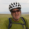 Brett Ferguson, 62, is from BC, Canada (a US Citizen) and he's taking the Tour Divide Route (Great Divide Bicycle Route), heading south. Along South Centennial Valley road near the Red Rock Lakes National Wildlife Refuge in Montana on July 13, 2012.