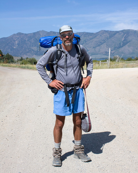 Lynne Weldon is hiking the Continental Divide trail. He's taking a detour to visit Yellowstone here. Lynne is making a Hi-Def video of his adventure. Lynne is from Pennsylvania.