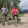 Couple riding the Continental Divide trail (Tour Divide) on July 29, 2009 at Red Rock Pass on Idaho/Montana border (Red Rock Road). They are from northern California, just north of the Golden Gate bridge. I didn't get their names. He has a nice English accent and said he had been from England. He was planning to finish the route, but she needed to return to work soon.