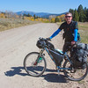 Phillip is from Dublin, Ireland. He is taking his time off from work as an Urban Planner to ride the Tour Divide. This was taken on the Continental Divide between Montana and Idaho on September 19, 2010. He said he'd been on the road for 30 days after leaving Banff.
