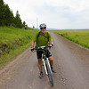 Brett Ferguson, 62, is from BC, Canada (a US Citizen) and he's taken the Tour Divide Route (Great Divide Bicycle Route). Along South Centennial Valley road near the Red Rock Lakes National Wildlife Refuge in Montana on July 13, 2012.  All Down Hill
