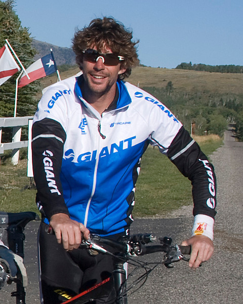 "Professional motocross rider and X Games gold medalist Travis Pastrana pausing on his Great Divide Bicycle Ride at RedRock RV Park near Island Park, Idaho. Sept 8 2009   <a href=""http://www.travispastrana.com/#/en/CURRENT/News/The-Great-Divide/The-Great-Divide/"">http://www.travispastrana.com/#/en/CURRENT/News/The-Great-Divide/The-Great-Divide/</a>"