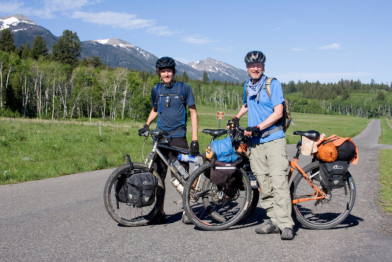 Kevin and Bob (son and father) are riding the Tour Divide trail from New Mexico to Canada. They are from Katy, Texas. They started on May 15th and are hoping to arrive by July 8th, 2009. Here they are at RedRock RV Park after a quick cold refresher drink.