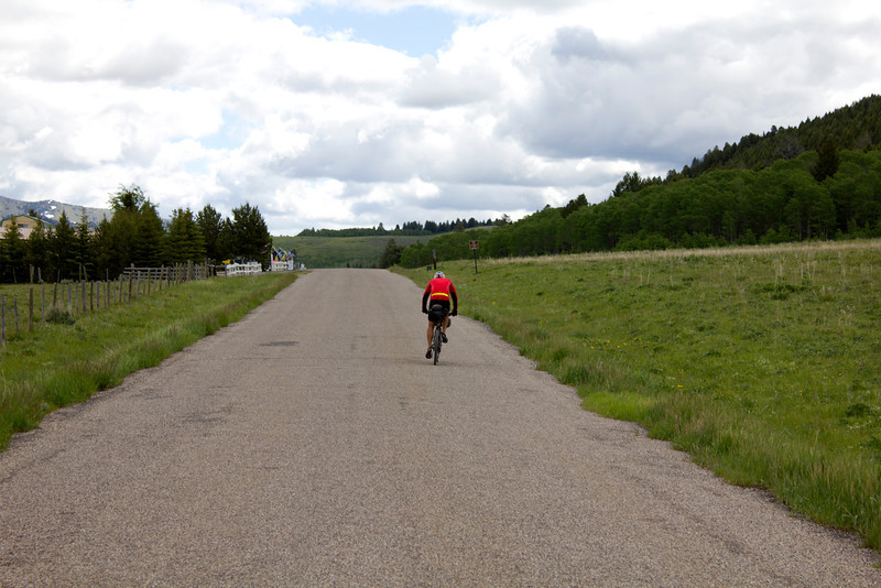 Greg Strauser, Chesapeake, VA, is on his way to the Mexican border in the Tour Divide Bicycle Race from Banff, AB, Canada. June 19, 2012.
