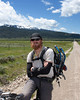 Tour Divide participant Justin Simoni, from Denver, Colorado. He said he was doing the regulation route, ignoring the diversions that the rest of the pack took due to snow conditions. June 21, 2011, Red Rock Lakes National Wildlife Refuge, Montana.