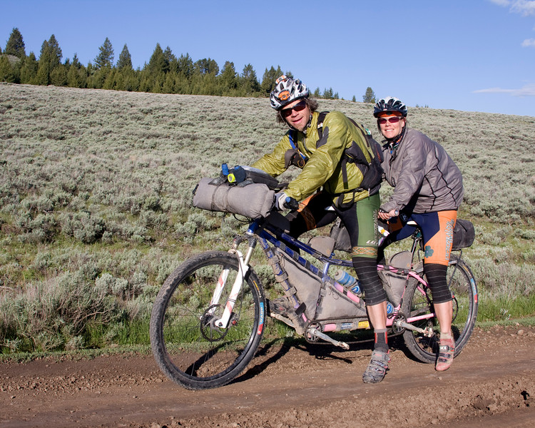Tracey And Jay Petervary From Jackson WY Participating In The 2009 Tour Divide Race Along