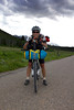 Josh Smith, from Tucson, Arizona on the evening of June 17th, 2012 along Red Rock Road as he competes in the Tour Divide Bicycle Race from Banff, AB, Canada to the Mexican Border. Josh is at mile 1009, on his way to the finish at 2720 miles.