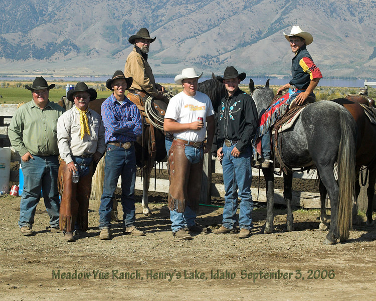 Wranglers at the 2006 Meadow Vue Ranch Cutting Horse Competition near Henry's Lake at Island Park, Idaho